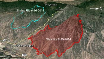 Cedar Fire Causes Evacuations West Of Kernville California - Cedar fire map
