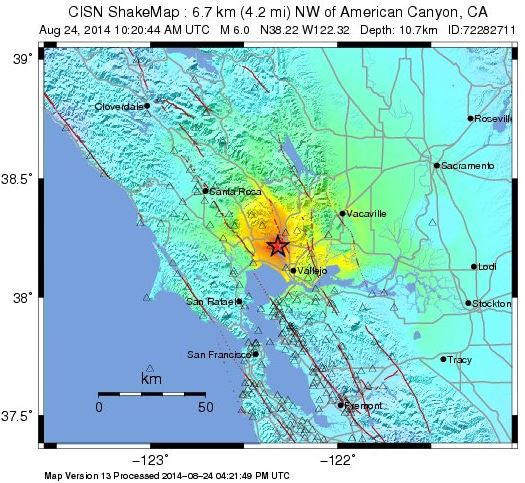 Fire Agencies Respond To Earthquake Near Napa Wildfire Today
