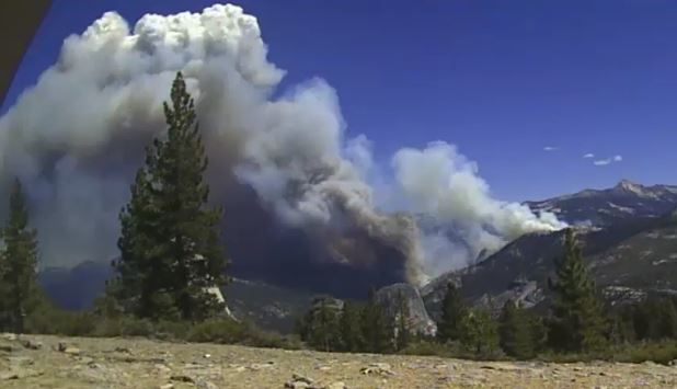 time-lapse video of the Meadow Fire