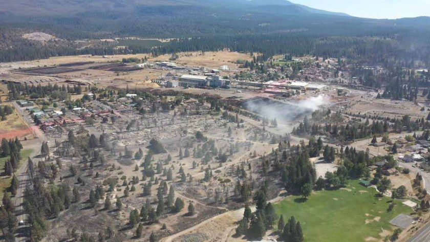 Boles Fire damage