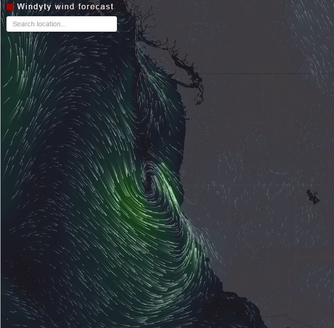 Another Version Of An Animated Wind Map Wildfire Today