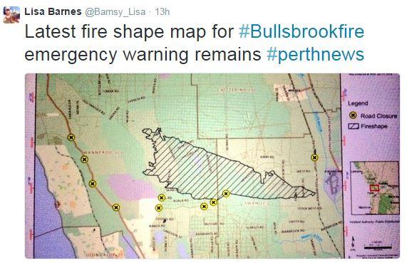 Bullsbrook fire map