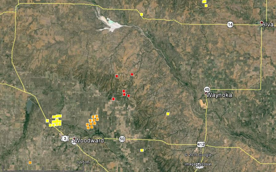 Fire near Woodward, Oklahoma burns tens of thousands of acres ...