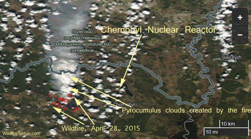 Ukrainian Prime Minister says wildfire near Chernobyl