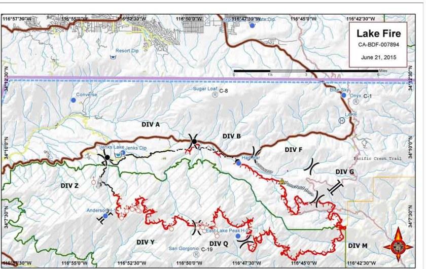 Lake Fire map