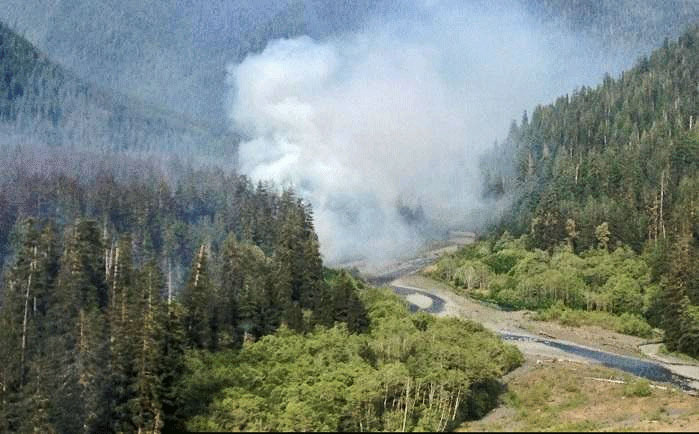 Paradise Fire in Olympic National Park,
