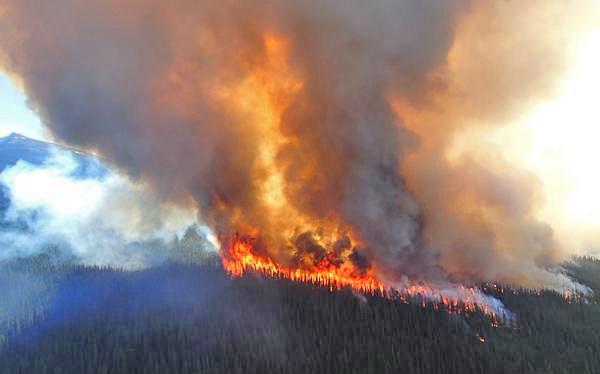 Fire near Excelsior Creek