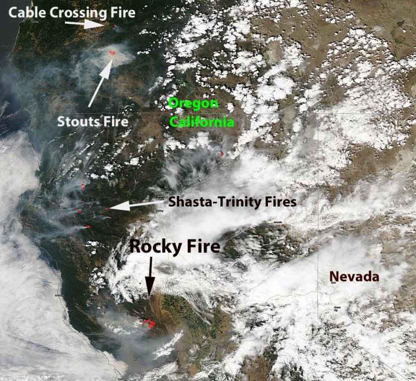 smoke west coast wildfires