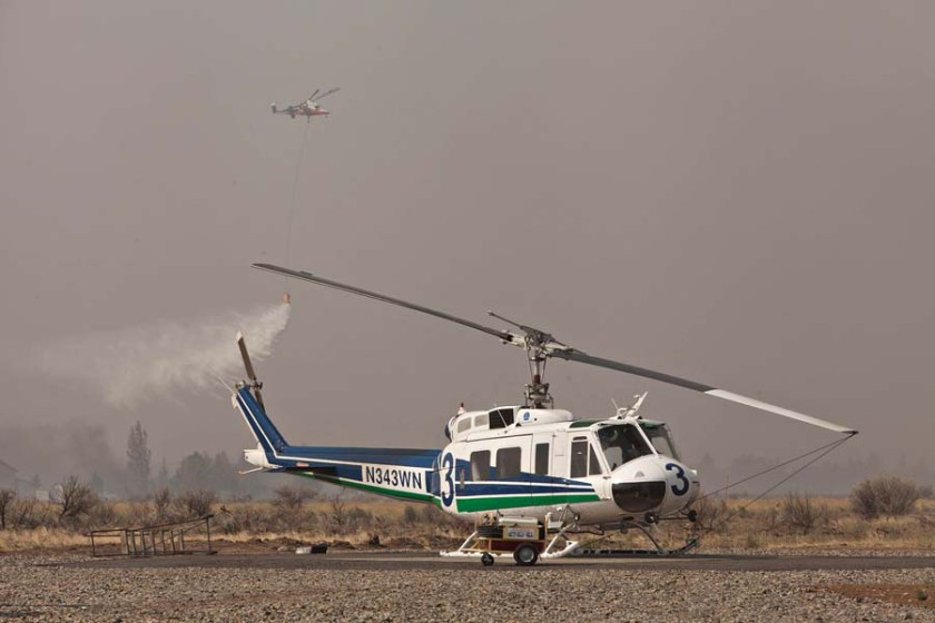 Helicopters at Okanogan Complex of Fires