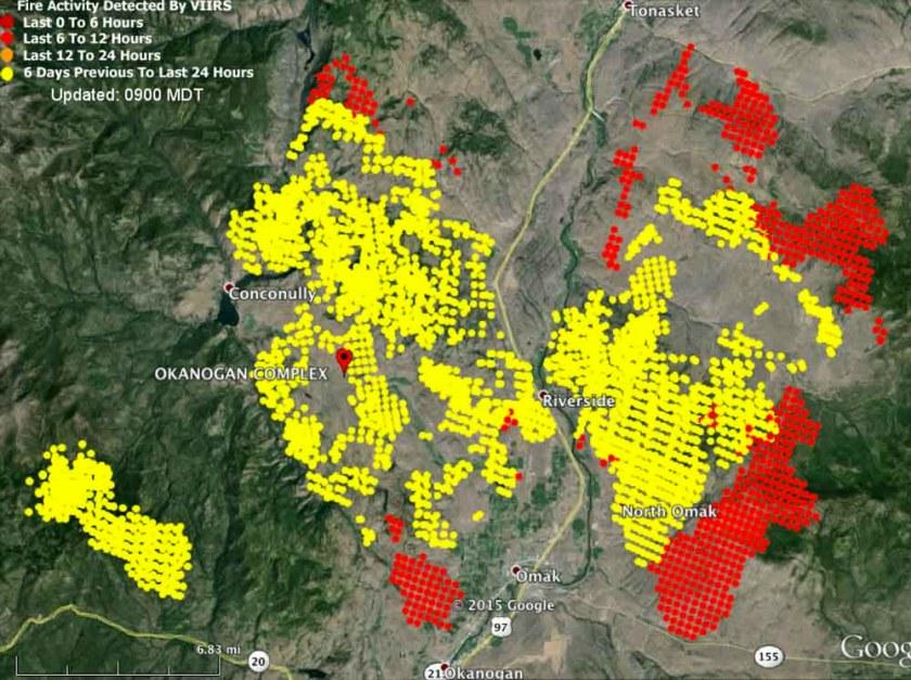 Map Okanogan Fire