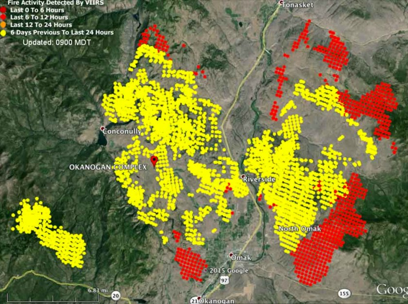 Map Okanogan Fire