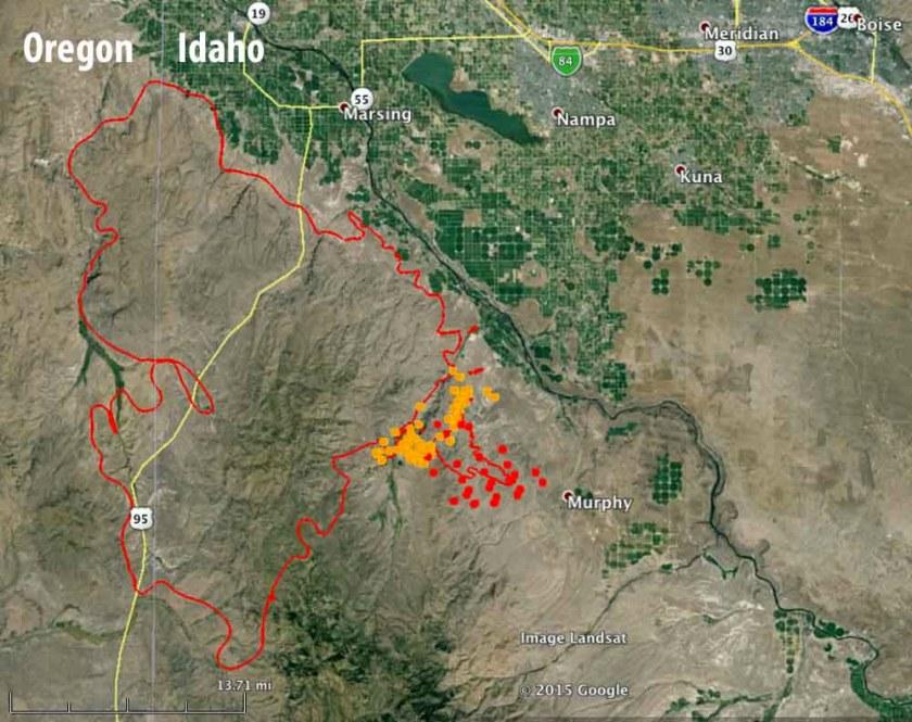 Map Soda Fire