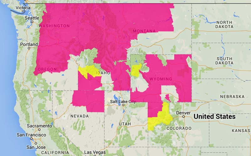 wildfireRed Flag Warnings, August 20, 2015
