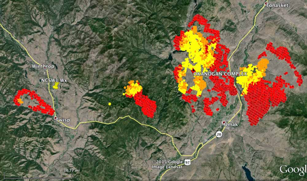 Tonasket Fire Map.Not Enough Firefighters Available For The 70 000 Acres Burning In