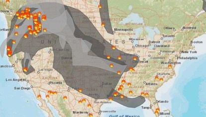 Wildfire smoke maps August 18 2015 Wildfire Today