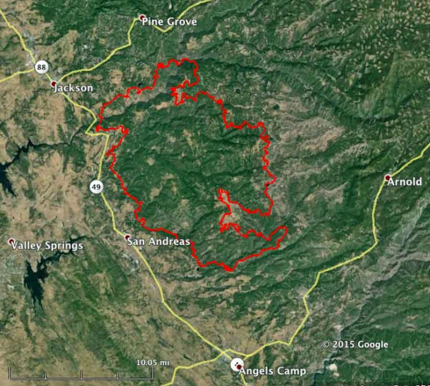 butte fire map
