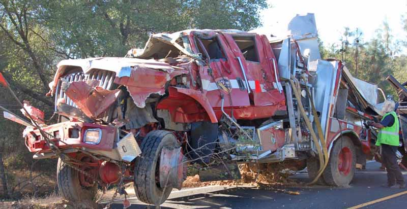 CAL FIRE engine rollover