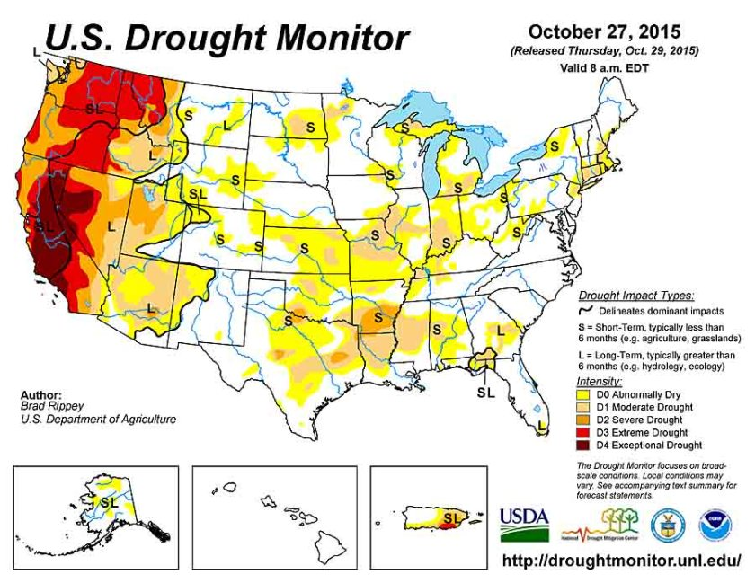 Drought Monitor 10-27-2015