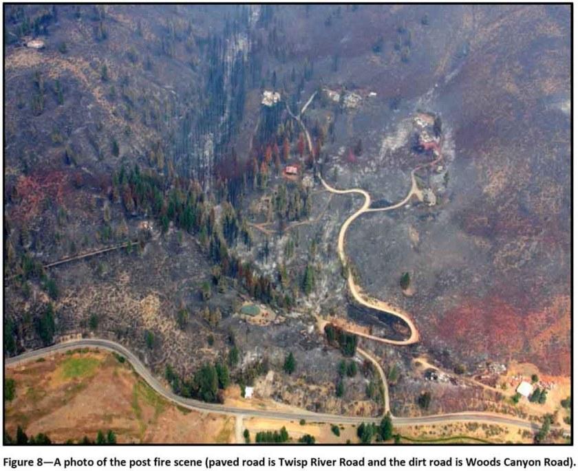 Twisp River Fire map