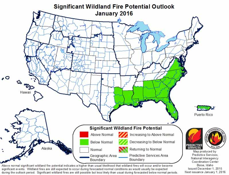 January 2016 wildfire Outlook