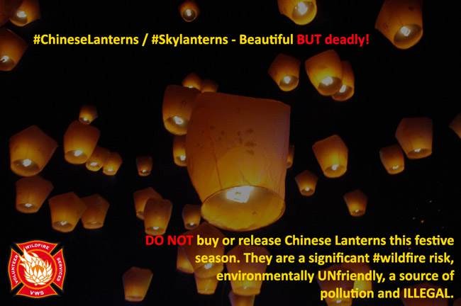 Update on the legality of sky lanterns - banned in 29 states