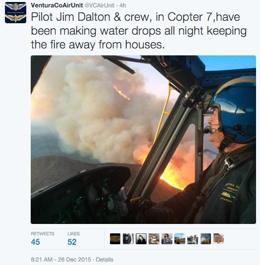 Solimar Fire Ventura County air unit