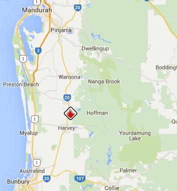 Waroona Fire emergency warning