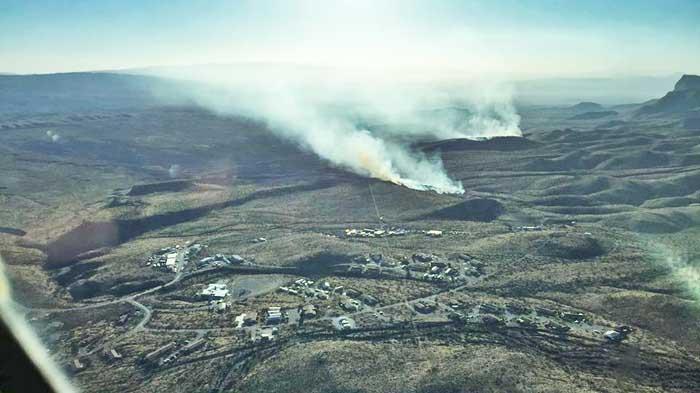 Powerline Fire aerial photo