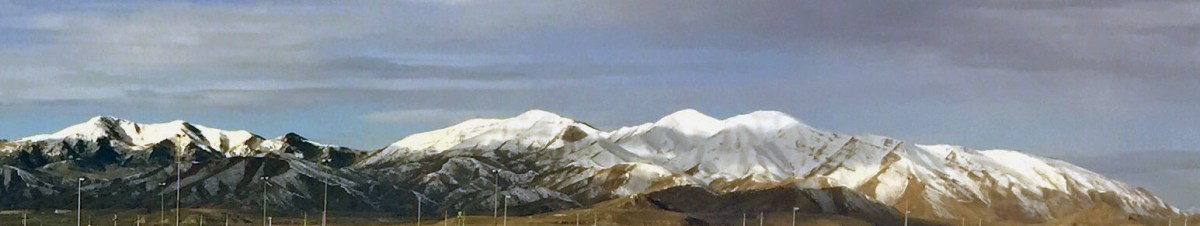 Snow-covered Utah mountains