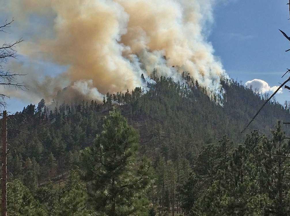 Storm Hill fire near Hill City, South Dakota