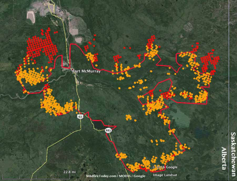 Fort Mcmurray Wildfire Map.Fort Mcmurray Fire Spreads Into Saskatchewan Wildfire Today