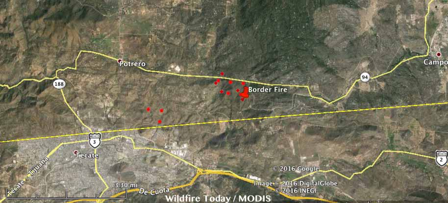 Map Border fire