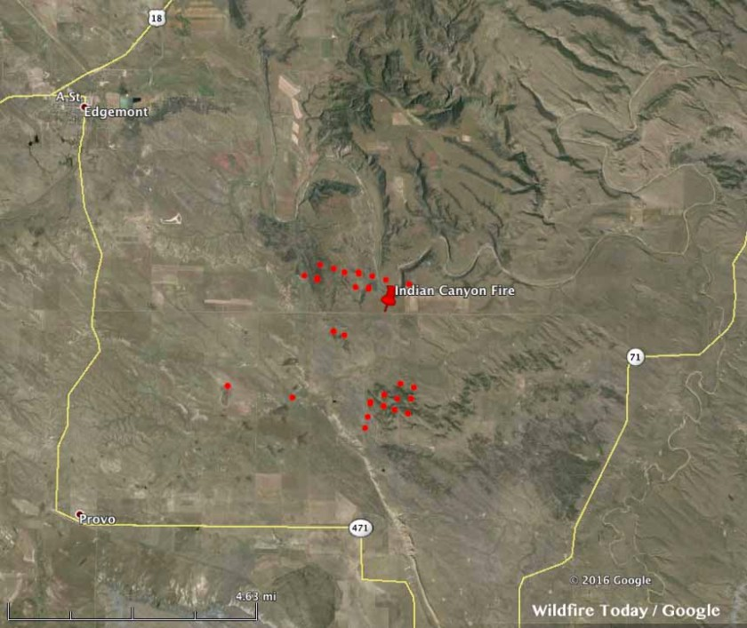 map Indian Canyon Fire
