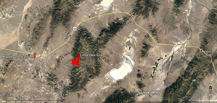 map Little Den Fire