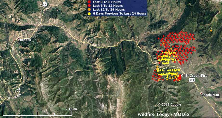 Bondurant Wyoming Map.Cliff Creek Fire Continues To Spread North Of Bondurant Wyoming