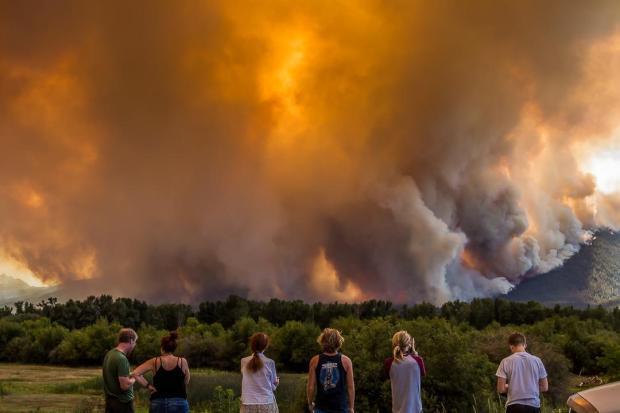 Roaring Lion fire, July 31, 2016