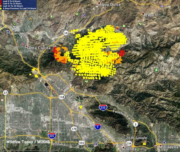 Current La Fire Map.Sand Fire To Be Declared Local Emergency For L A County Wildfire