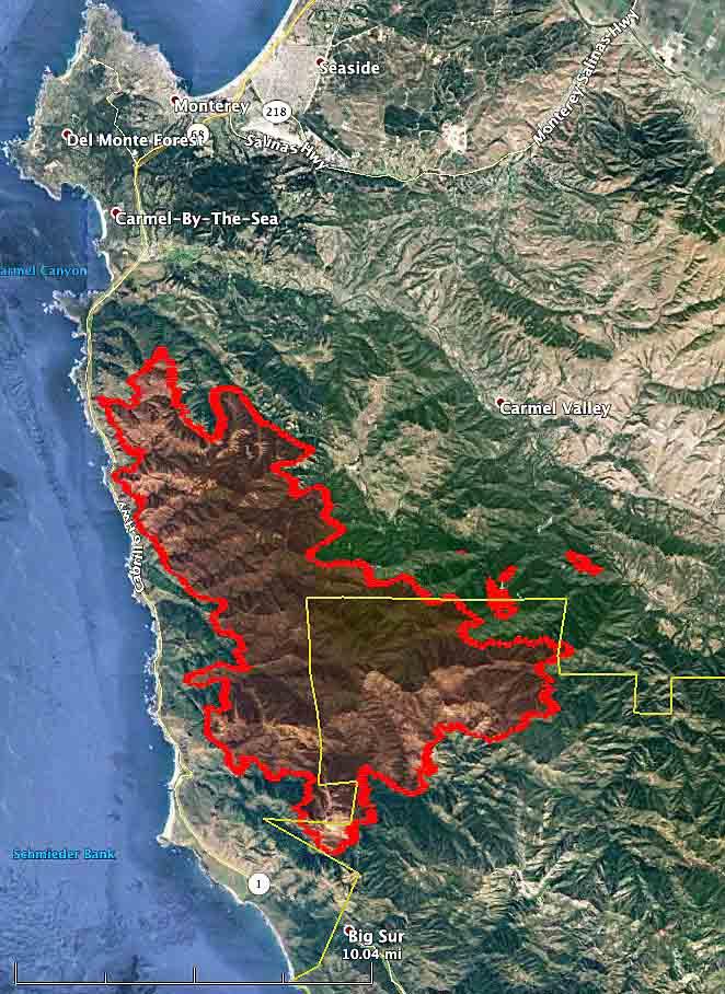 Soberanes Fire map