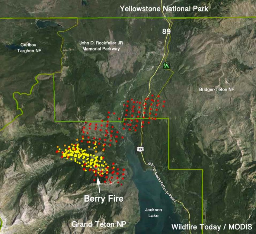 Grand Lake Fire Map.Map Berry Fire 431 Am Mdt August 23 2016 Wildfire Today