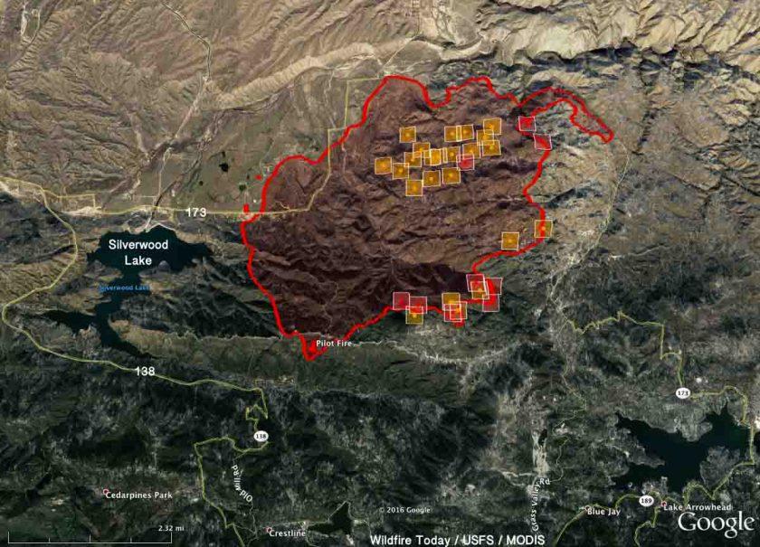 Pilot Fire map