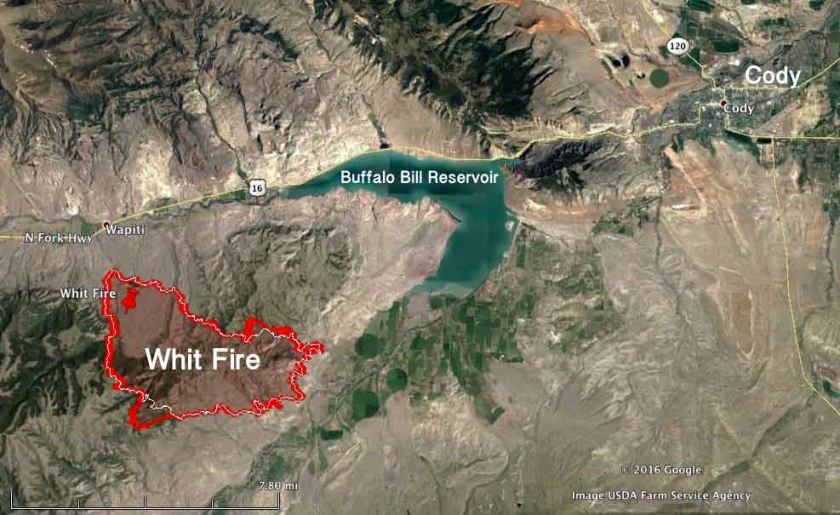 Whit Fire map