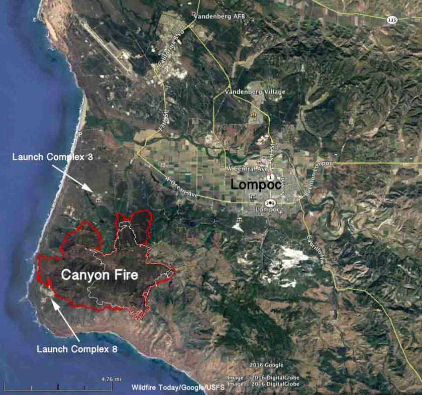 map Canyon Fire