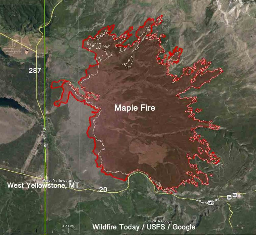 map Maple fire