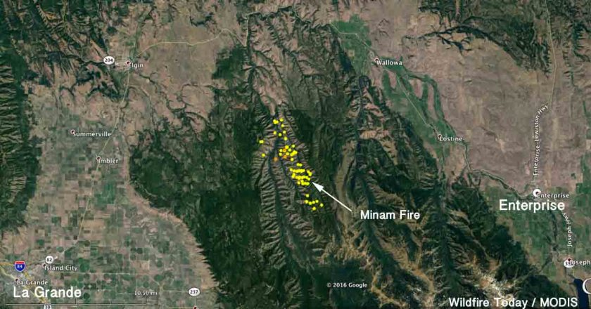 Map Minam Fire