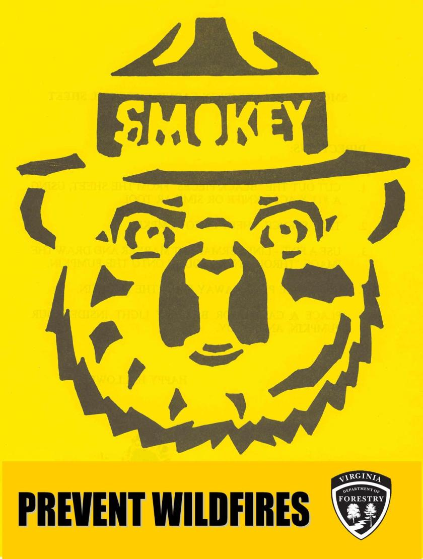 smokey stencil halloween