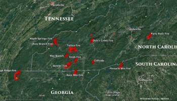 Information And Maps Of Five Wildfires In Georgia And North - Us forest service east tn wiildfires map