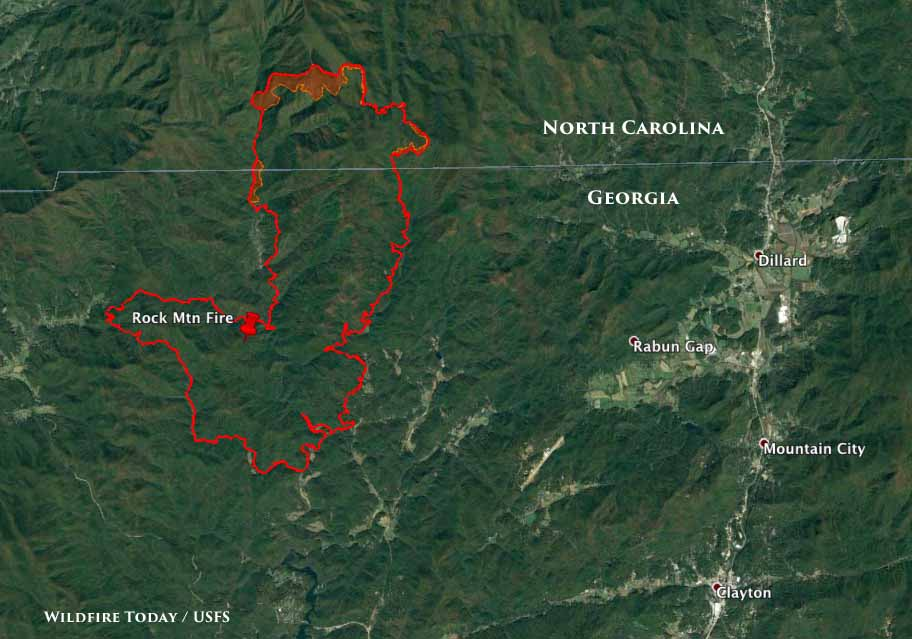 Map Of Georgia Fire.Wildfire Today Page 176 Of 1325 News And Opinion About Wildland Fire