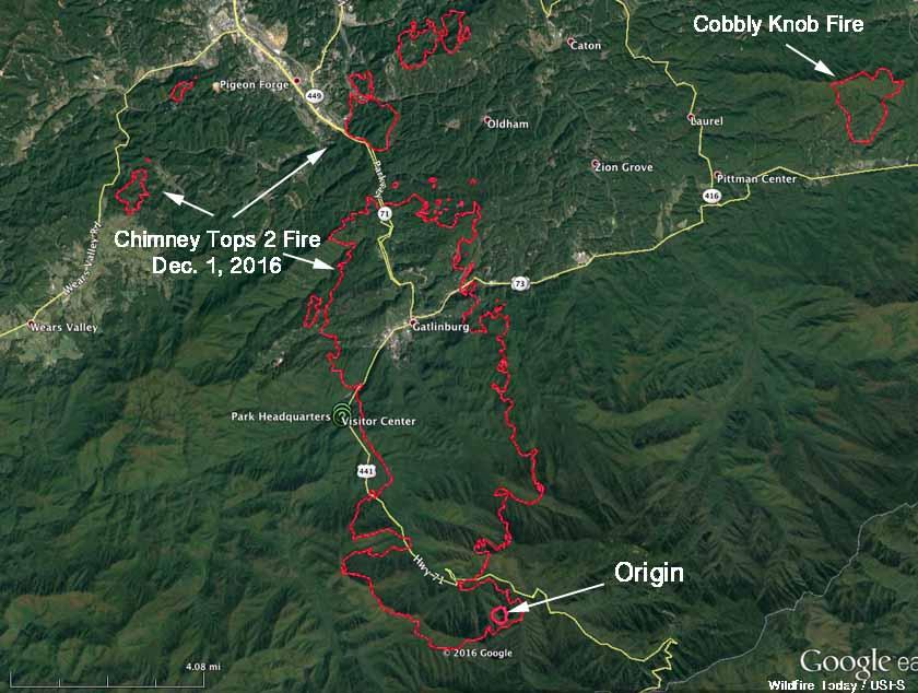 Update On Wildfire At Gatlinburg December 2 2016