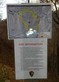 sign Chimney Tops 2 Fire