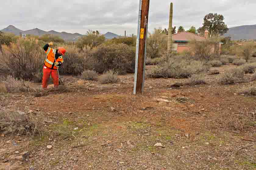 defensible space power poles